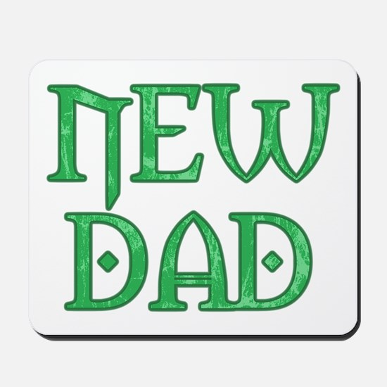 Green Carved New Dad Mousepad