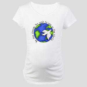 World Peace Gandhi - 2008 Maternity T-Shirt