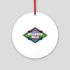 Wisconsin Dells Diamond Round Ornament