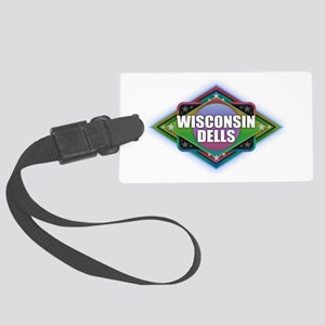 Wisconsin Dells Diamond Large Luggage Tag