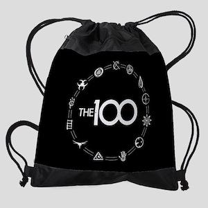 The 100 The Clan Symbols Drawstring Bag