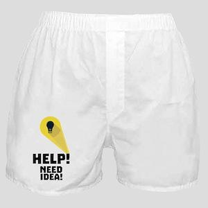 Need Help idea bulb in Superhero ligh Boxer Shorts