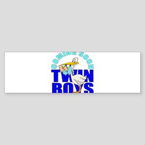 Twin boys Bumper Sticker