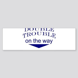 Funny expecting twins Bumper Sticker