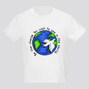 World Peace Gandhi - Funky Stroke Kids Light T-Shi