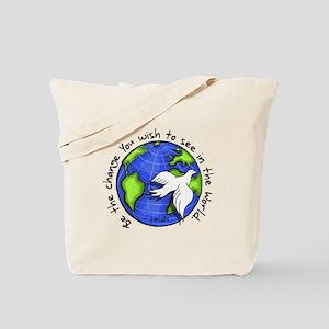 World Peace Gandhi - Funky Stroke Tote Bag