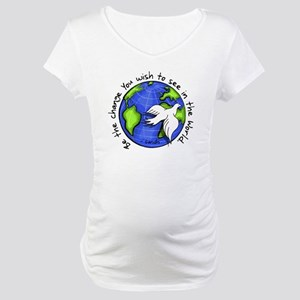 World Peace Gandhi - Funky Stroke Maternity T-Shir