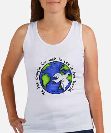 World Peace Gandhi - Funky Stroke Women's Tank Top