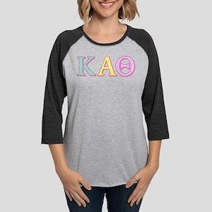 Kappa Alpha Theta Pastel Womens Baseball Tee
