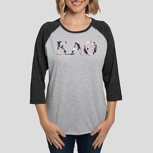 Kappa Alpha Theta Flower Womens Baseball Tee