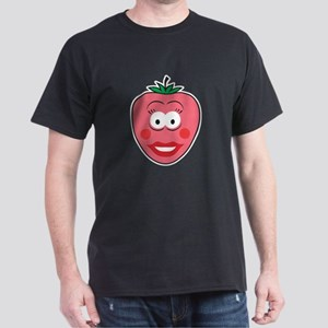 Strawberry Smiley Face Dark T-Shirt