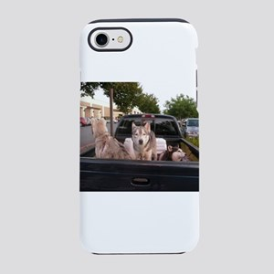 Siberian huskies in a green iPhone 8/7 Tough Case