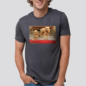 cream standard poodles at hydrant T-Shirt