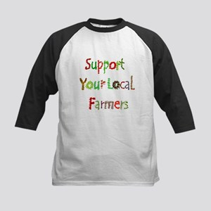 Support Local Farmers Kids Baseball Tee
