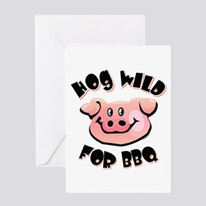 Hog Wild For BBQ Greeting Card