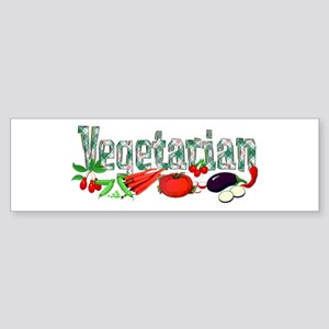 Vegetarian Sticker (Bumper)