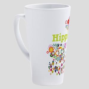 Hippie Chick At Heart 17 Oz Latte Mug