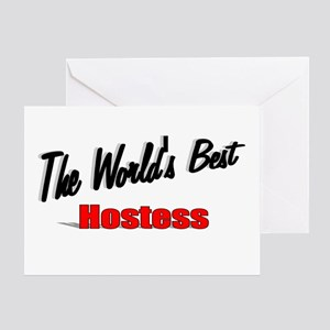 """The World's Best Hostess"" Greeting Card"