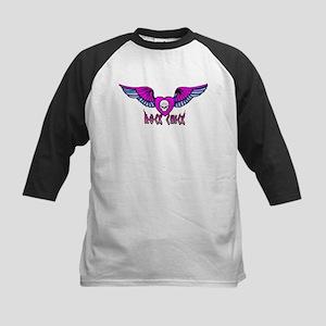 ROCK CHICK: Skull & Wings Kids Baseball Jersey