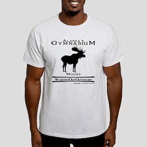 Alaska's Gym Moose Light T-Shirt