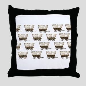 wagon train again Throw Pillow