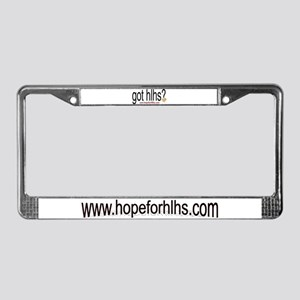 www.hopeforhlhs.com License Plate Frame