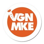 Vegan Milwaukee Logo Round Car Magnet