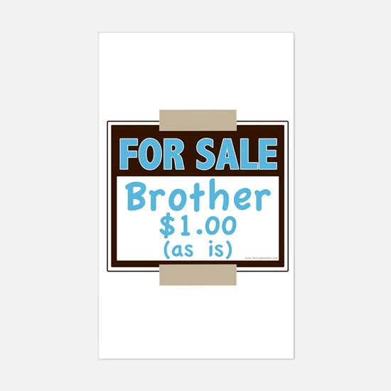 For Sale Brother $1 As Is Rectangle Decal
