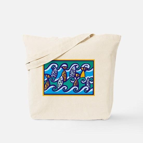 Dancing Fish Tote Bag
