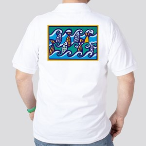 Dancing Fish Golf Shirt