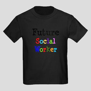 Social Worker Kids Dark T-Shirt