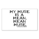 Mean Muse Rectangle Sticker 10 pk)