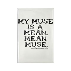 Mean Muse Rectangle Magnet (100 pack)