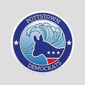 """Pottstown Democratic Wave 3.5"""" Button"""