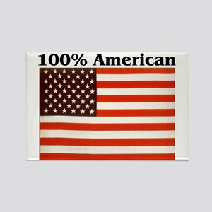 100% American Rectangle Magnet