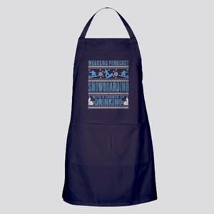 Snowboarding With A Chance Of Drinkin Apron (dark)