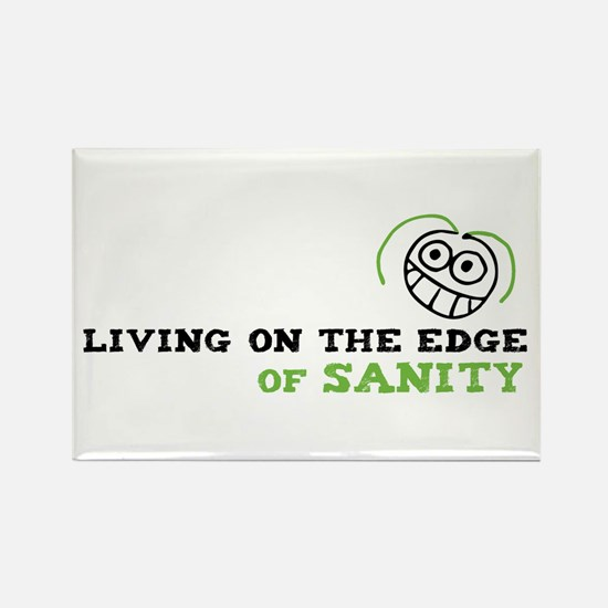 Living on the Edge Rectangle Magnet