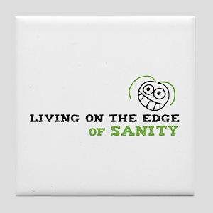 Living on the Edge Tile Coaster