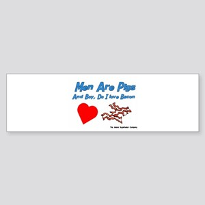 Men are Pigs And Boy Do I Lov Bumper Sticker