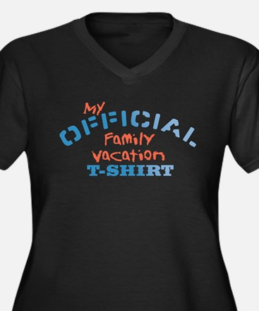 Offical Family Vacation Women's Plus Size V-Neck D