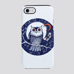 Blue Owl with Moon and Moth iPhone 8/7 Tough Case