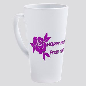 Happy Mother's Day From The Dog 17 oz Latte Mug