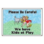 Goat kids at Play Banner