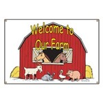 Welcome to our Farm Goat Banner