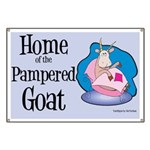 Home of the Pampered Goat Banner