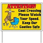 Goat Crossing Yard Sign