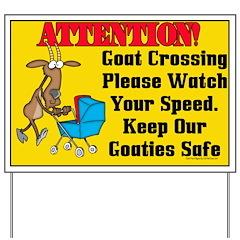 Goat Crossing Yard Sign