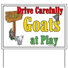 Goats at Play Yard Sign
