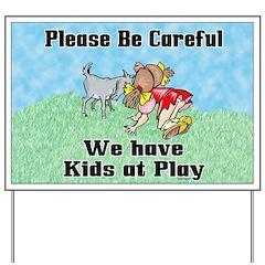 Kids at Play Yard Sign