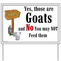 Goats Yard Sign